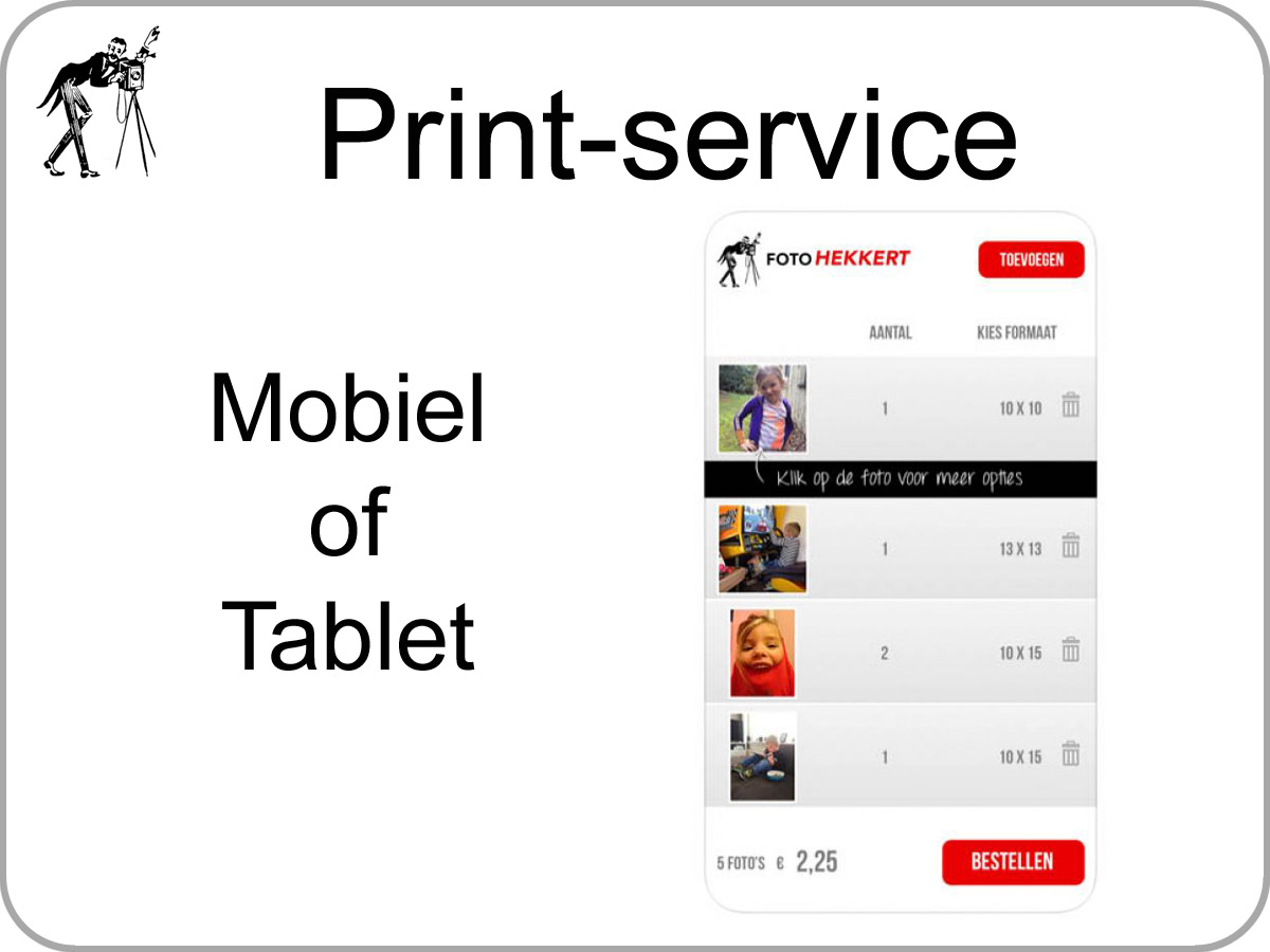 Snel service prints uit Apple IOS of Android