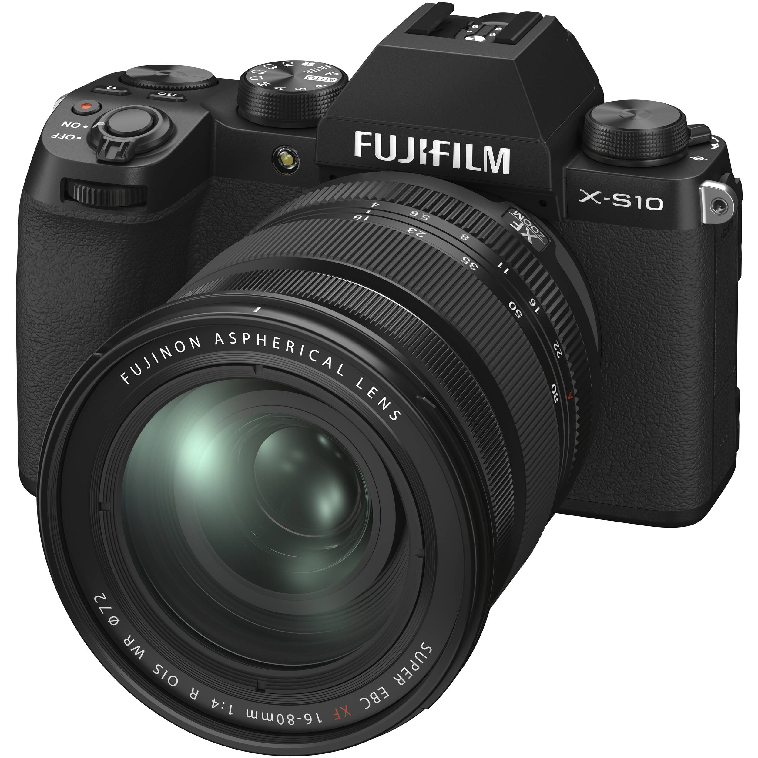 FUJIFILM X-S10 Zwart/ XF16-80mm F4 R OIS WR Kit
