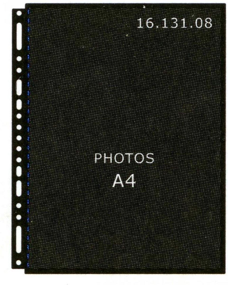 Henzo 10 Fototassen A4 zwart 16.131.08